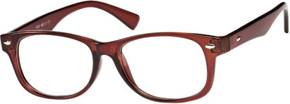Angle of The Orson in Brown, Women's and Men's Retro Square Reading Glasses