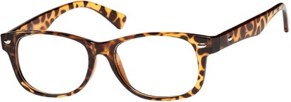 Angle of The Orson in Tan Tortoise, Women's and Men's Retro Square Reading Glasses