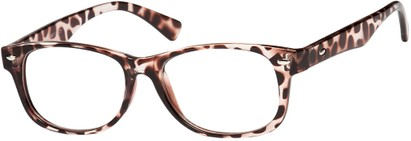 Angle of The Orson in Brown/Clear Tortoise, Women's and Men's Retro Square Reading Glasses