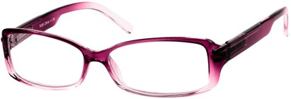 Angle of The Courtney in Dark Pink Fade, Women's Rectangle Reading Glasses