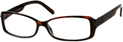 Angle of The Courtney in Brown Tortoise, Women's Rectangle Reading Glasses