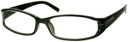 Angle of The Augusta in Black, Women's Rectangle Reading Glasses