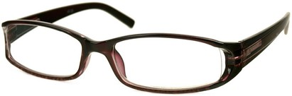 Angle of The Augusta in Brown, Women's Rectangle Reading Glasses