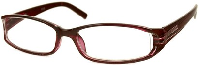 Angle of The Augusta in Red, Women's Rectangle Reading Glasses