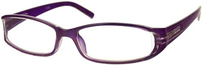 Angle of The Augusta in Purple, Women's Rectangle Reading Glasses
