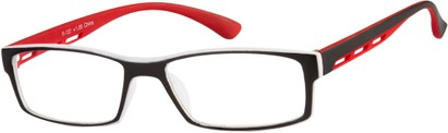 Angle of The Zionsville in Red, Women's and Men's Rectangle Reading Glasses