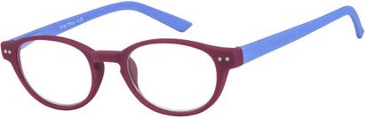 Angle of The Winston in Purple/Blue, Women's and Men's Round Reading Glasses