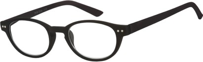 Angle of The Winston in Black, Women's and Men's Round Reading Glasses