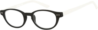 Angle of The Winston in Black/White, Women's and Men's Round Reading Glasses