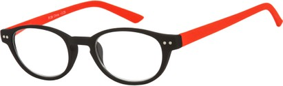Angle of The Winston in Black/Red, Women's and Men's Round Reading Glasses