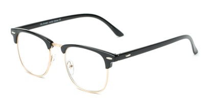 Angle of The Kirby in Black, Women's and Men's Browline Reading Glasses