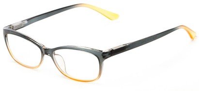 Angle of The Taffy in Blue/Orange Fade, Women's and Men's Rectangle Reading Glasses