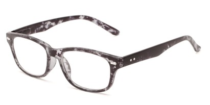 Angle of The Hickory in Grey Tortoise, Women's and Men's Rectangle Reading Glasses