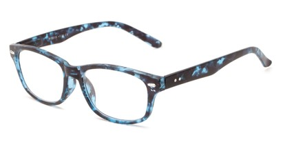 Angle of The Hickory in Blue Tortoise, Women's and Men's Rectangle Reading Glasses