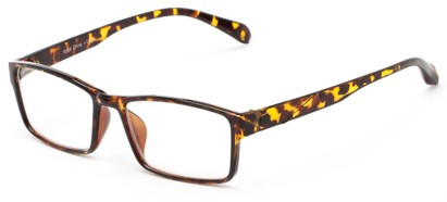 Angle of The Edgar in Tortoise, Women's and Men's Rectangle Reading Glasses