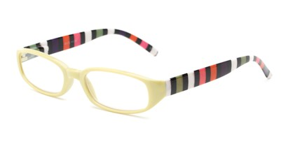 Angle of The Dory in Green/Stripe, Women's Rectangle Reading Glasses