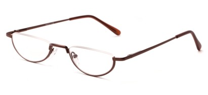Angle of The Lynwood in Brown, Women's and Men's Round Reading Glasses