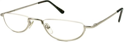 Angle of The Lynwood in Silver, Women's and Men's Round Reading Glasses