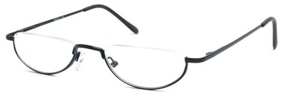 Angle of The Lynwood in Black, Women's and Men's Round Reading Glasses