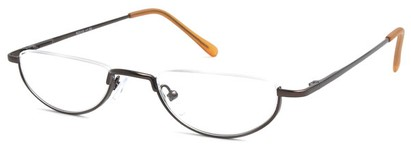 Angle of The Lynwood in Bronze, Women's and Men's Round Reading Glasses