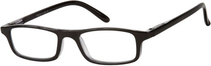 Angle of The Corey in Black, Women's and Men's Rectangle Reading Glasses