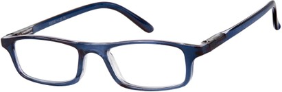 Angle of The Corey in Dark Blue, Women's and Men's Rectangle Reading Glasses