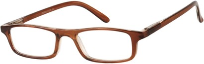 Angle of The Corey in Brown, Women's and Men's Rectangle Reading Glasses