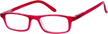 Angle of The Corey in Red/Pink, Women's and Men's Rectangle Reading Glasses