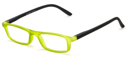Angle of The Sylvia in Green/Black, Women's and Men's Rectangle Reading Glasses