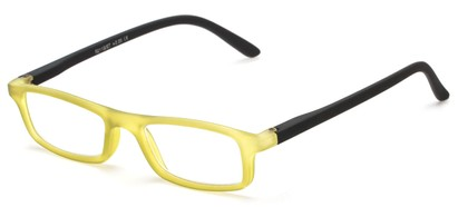 Angle of The Sylvia in Yellow/Black, Women's and Men's Rectangle Reading Glasses