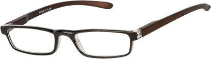 Angle of The Duvall in Black/Brown, Women's and Men's Rectangle Reading Glasses