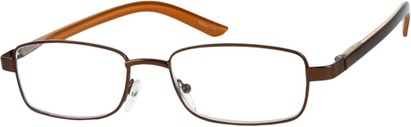Angle of The Nashville in Bronze/Brown, Women's and Men's Rectangle Reading Glasses