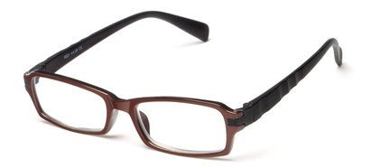 Angle of The Hamlet in Brown/Black, Women's and Men's Rectangle Reading Glasses