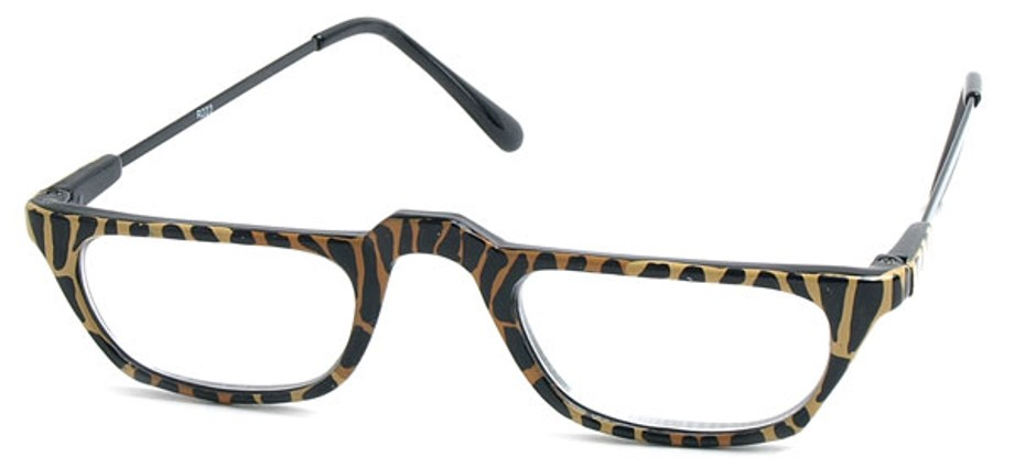 Half Frame Animal Print Reading Glasses