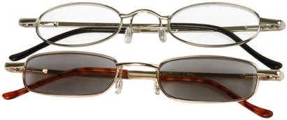 Angle of The Twin Cities Reader Set in Silver Reader/Gold Sun Reader, Women's and Men's