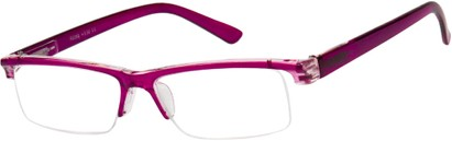 Angle of The Gershwin in Purple/Clear, Women's and Men's Rectangle Reading Glasses