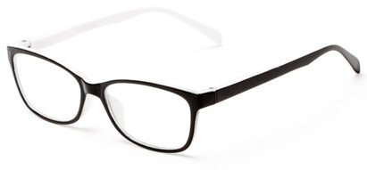 Angle of The Aurora in Black/White, Women's and Men's Rectangle Reading Glasses