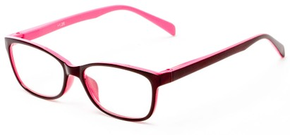 Angle of The Aurora in Maroon/Pink, Women's and Men's Rectangle Reading Glasses