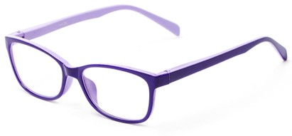 Angle of The Aurora in Purple/Lavender, Women's and Men's Rectangle Reading Glasses