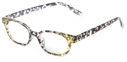 Angle of The Seymour in Yellow/Black Tortoise, Women's Cat Eye Reading Glasses