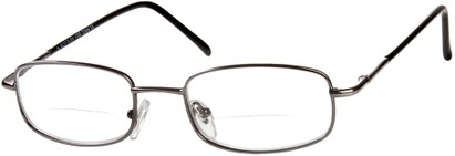 Angle of The Springfield Bifocal in Grey, Women's and Men's Rectangle Reading Glasses