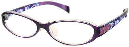 Angle of The Lana in Dark Purple Flowers, Women's and Men's