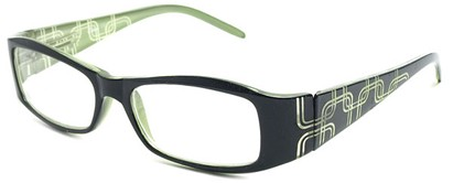 Angle of The Claudia in Black and Green, Women's and Men's