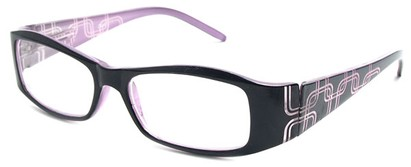 Angle of The Claudia in Black and Purple, Women's and Men's