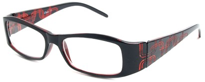 Angle of The Claudia in Black and Red, Women's and Men's