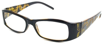 Angle of The Claudia in Black and Yellow, Women's and Men's