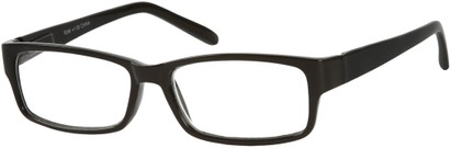 Angle of The Bilson in Black, Women's and Men's Rectangle Reading Glasses