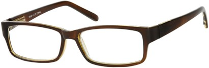 Angle of The Bilson in Brown/Clear, Women's and Men's Rectangle Reading Glasses