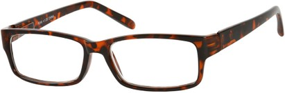 Angle of The Bilson in Brown Tortoise, Women's and Men's Rectangle Reading Glasses