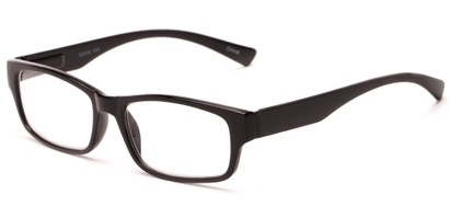 Angle of The Mars in Black, Women's and Men's Rectangle Reading Glasses